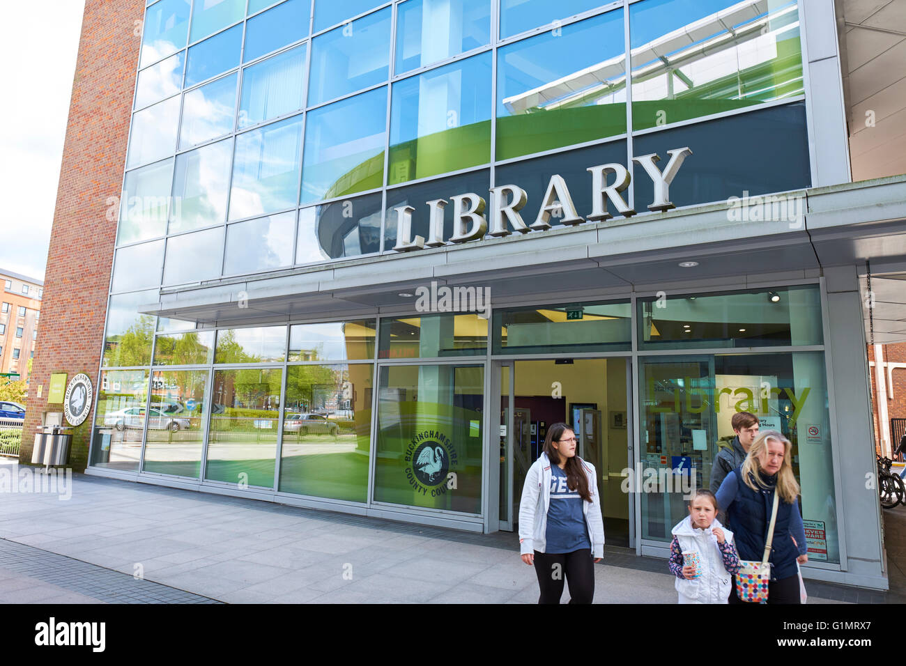 High Wycombe Library Eden Shopping Centre Buckinghamshire UK - Stock Image