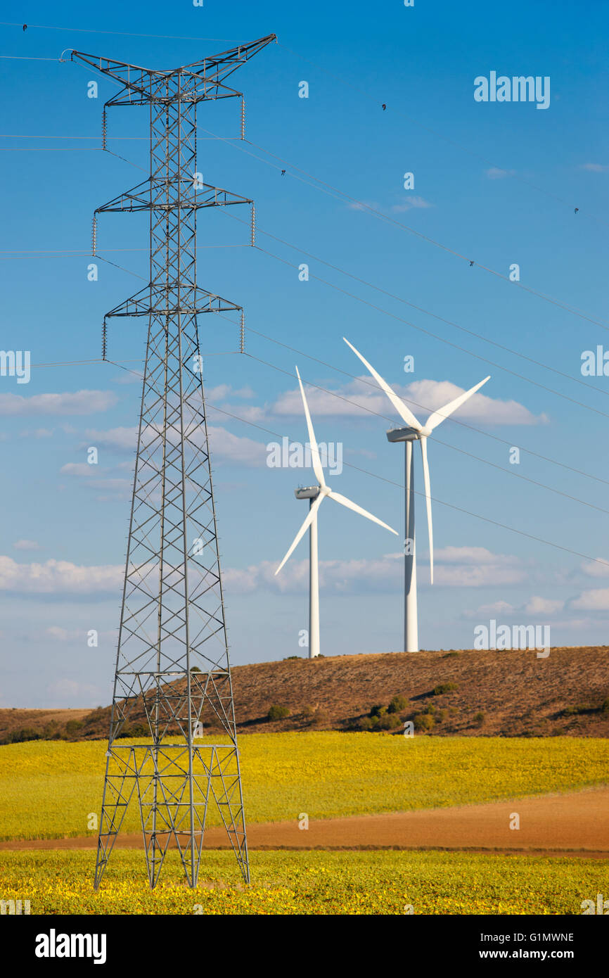 High Voltage Power Lines And Wind Energy In The