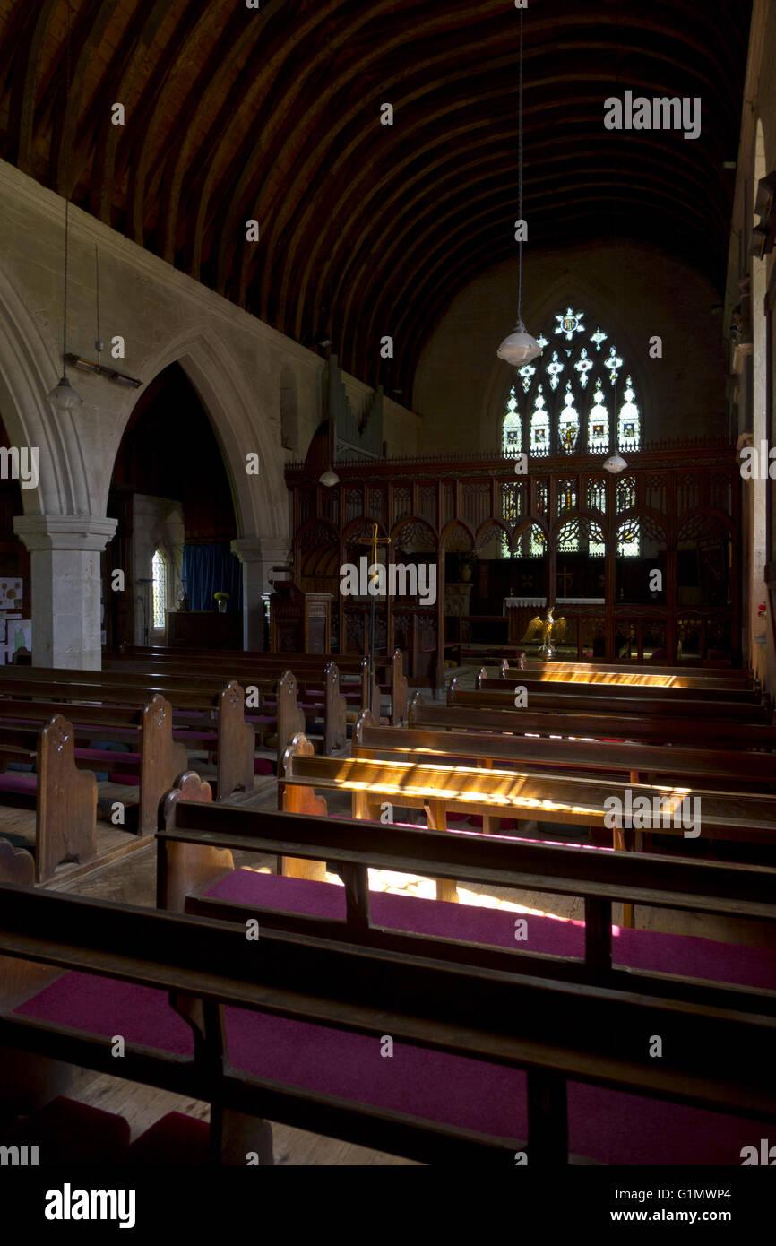 Interior Dark Country Church