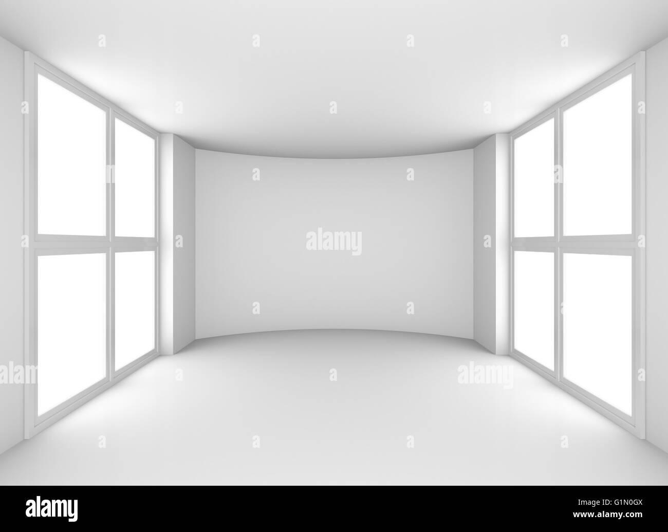Superb Exhibit Empty White Showroom With Windows Stock Photo Download Free Architecture Designs Scobabritishbridgeorg