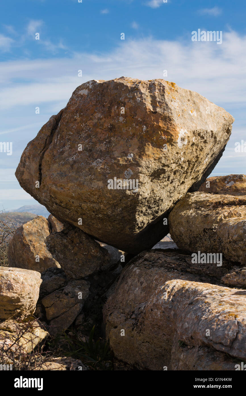 El Torcal, Malaga Province, Andalusia, southern Spain.  Rock formations. - Stock Image