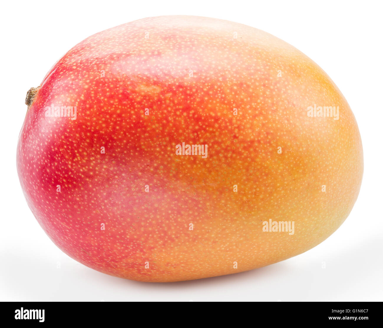Mango fruit isolated on the white background. The picture of high quality. - Stock Image
