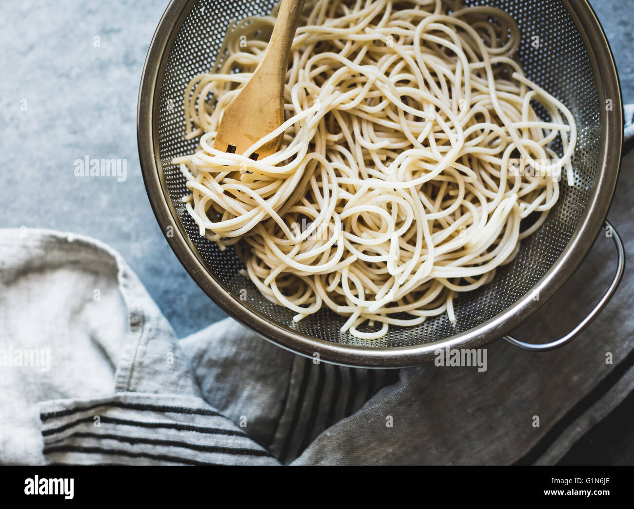 Rice noodles - Stock Image