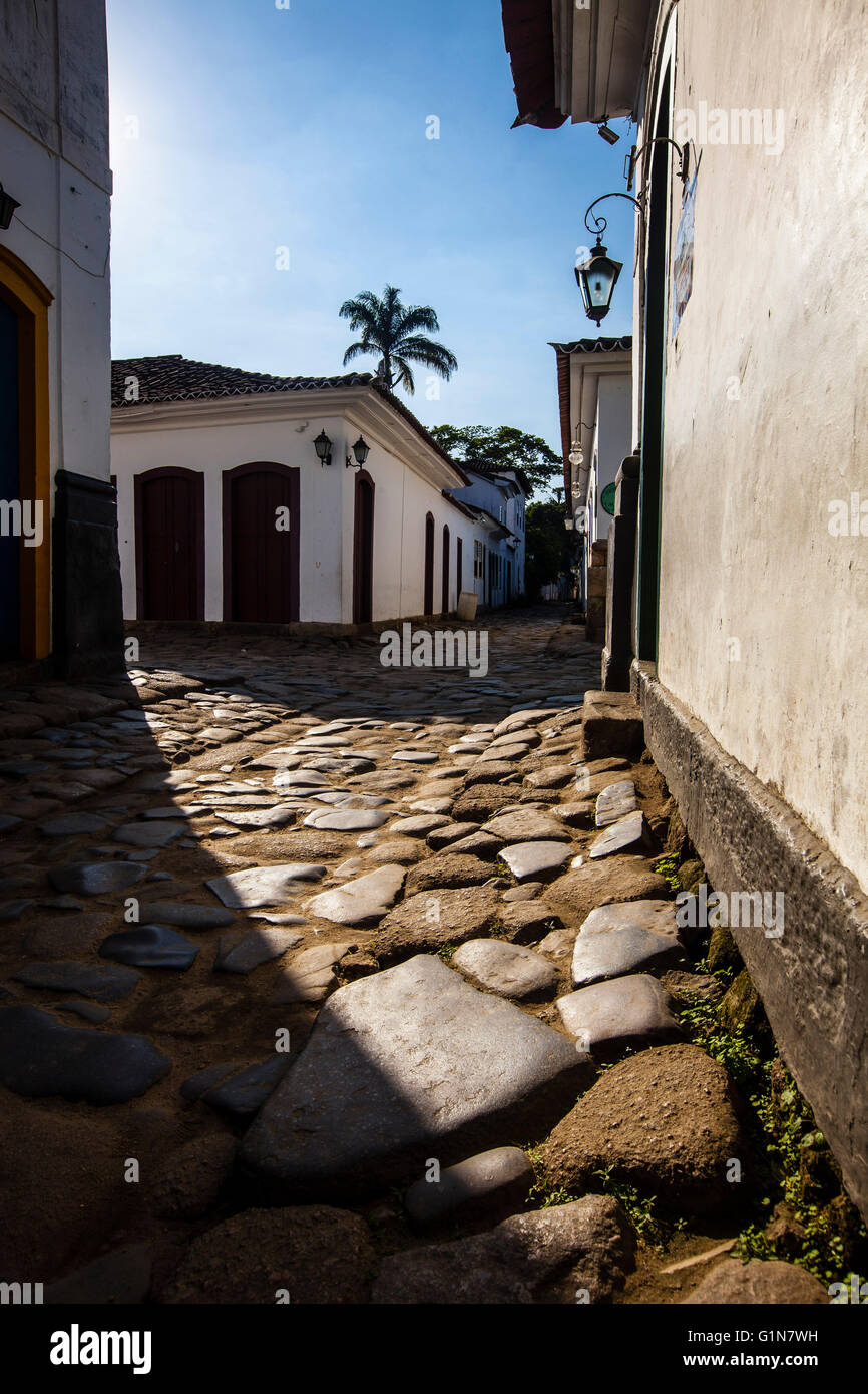 Paraty ( or Parati ),  a preserved Portuguese colonial and Brazilian Imperial town located on the Costa Verde ( - Stock Image