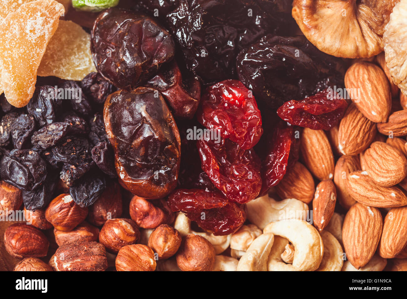 Dry fruits and nuts - Stock Image