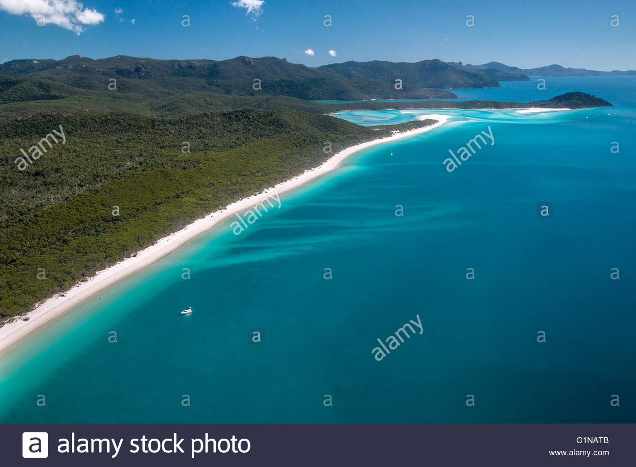 Whitehaven beach on Whitsunday island - Queensland (Australia) - Stock Image
