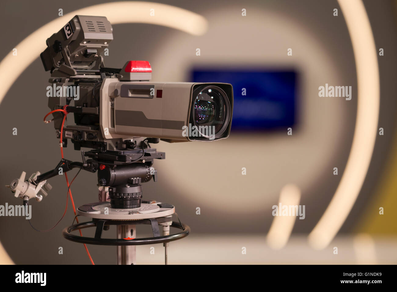 a professional television camera - Stock Image