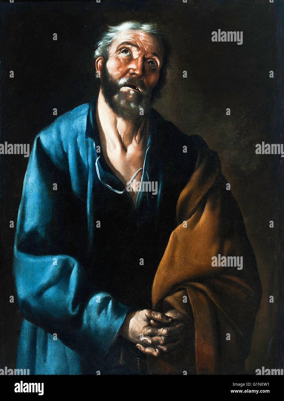 Francisco de Zurbaran - Tears of St Peter  - Museo del Greco - Stock Image