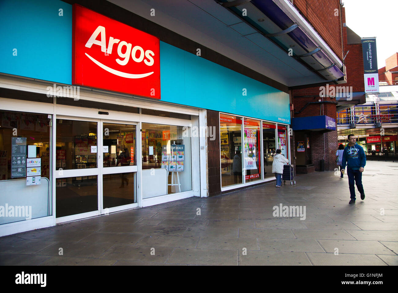 Exterior Shopfront Of An Argos Store In Wood Green Shopping