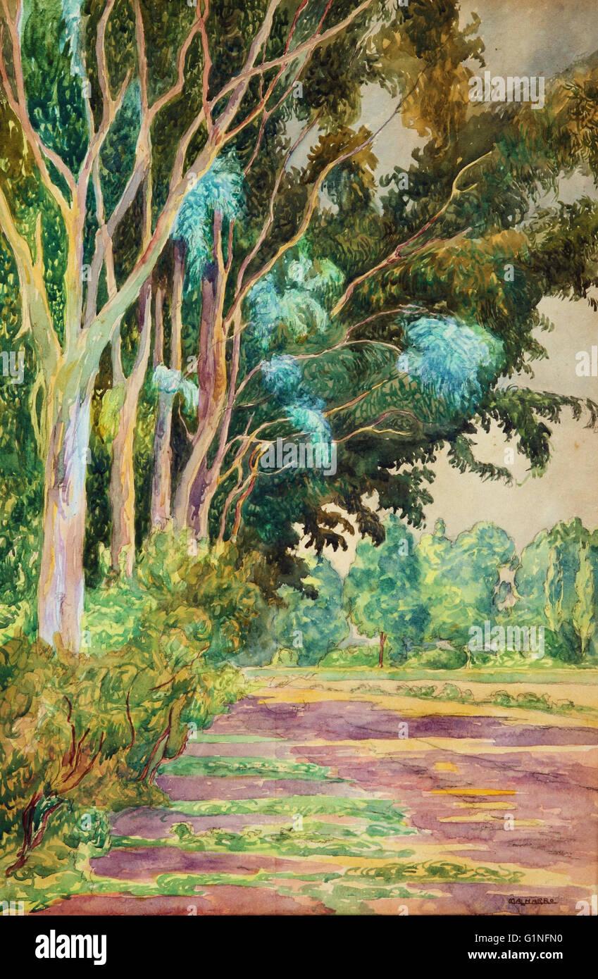 Martin Malharro - Paisaje 004   - Museo Nacional de Bellas Artes de Buenos Aires - Stock Image