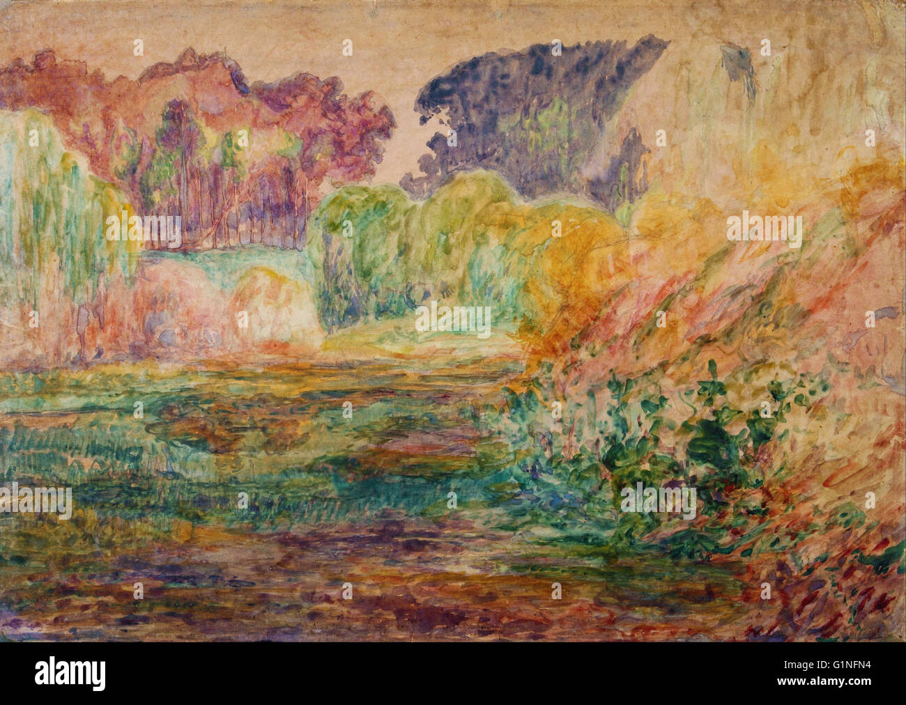 Martin Malharro - Paisaje 003   - Museo Nacional de Bellas Artes de Buenos Aires - Stock Image