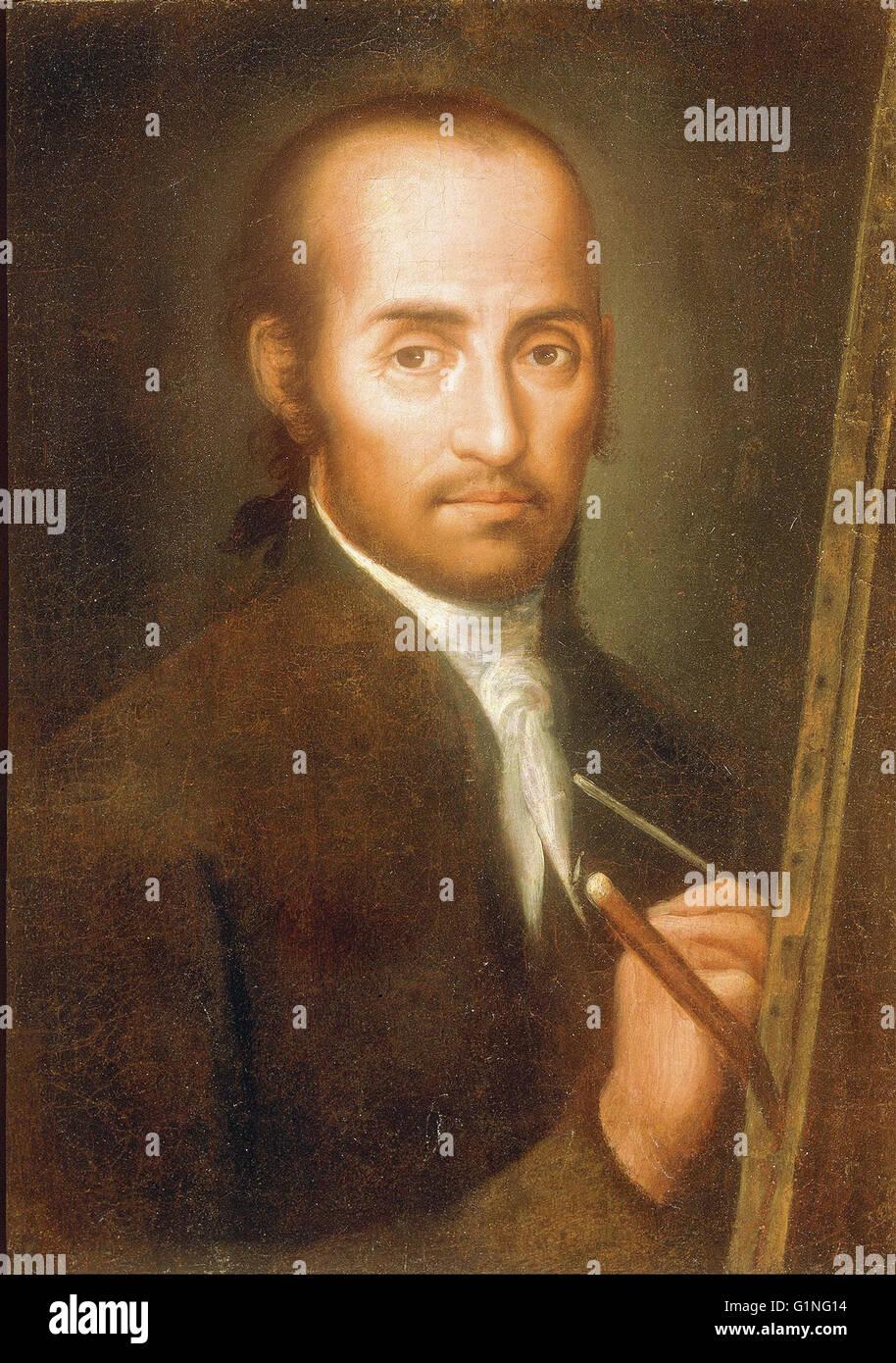 Miguel Rudecindo Contreras - Portrait of José de Ibarra -  Museo Nacional de Arte de Mexico - Stock Image