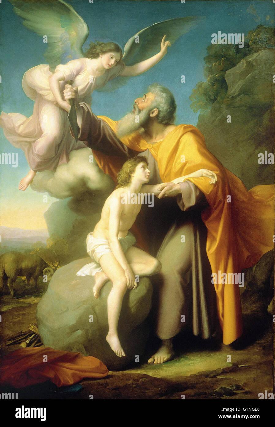 Santiago Rebull - The Sacrifice of Isaac -  Museo Nacional de Arte de Mexico - Stock Image