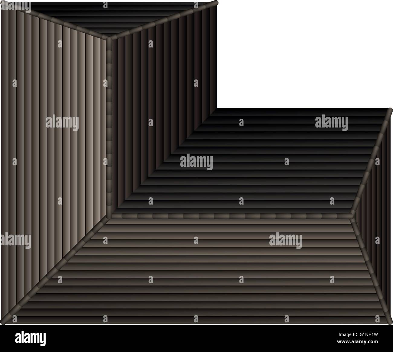 Top View Of Gray Rooftop Illustration Stock Vector Art