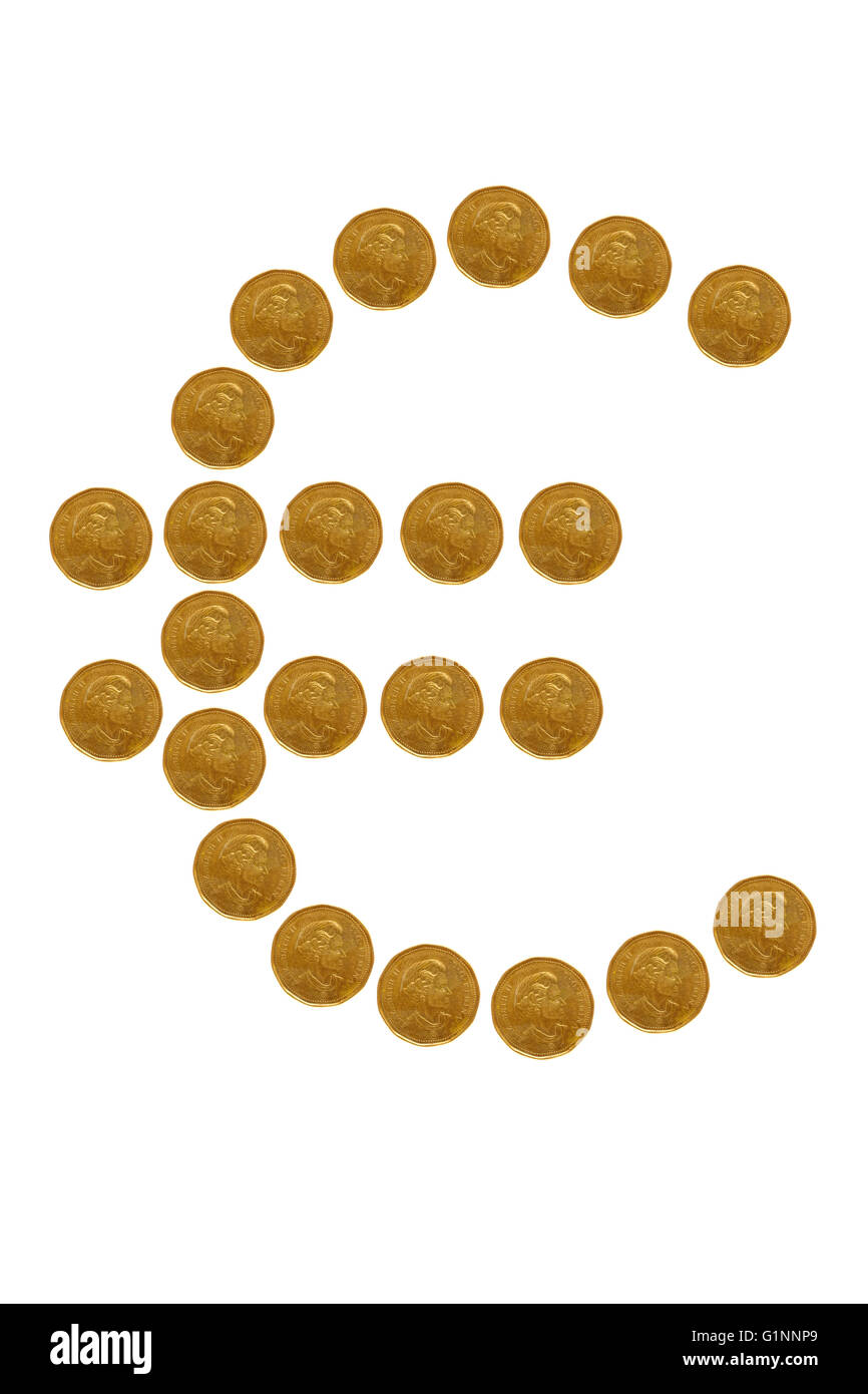 Euro Symbol Formed From Coins Stock Photos Euro Symbol Formed From