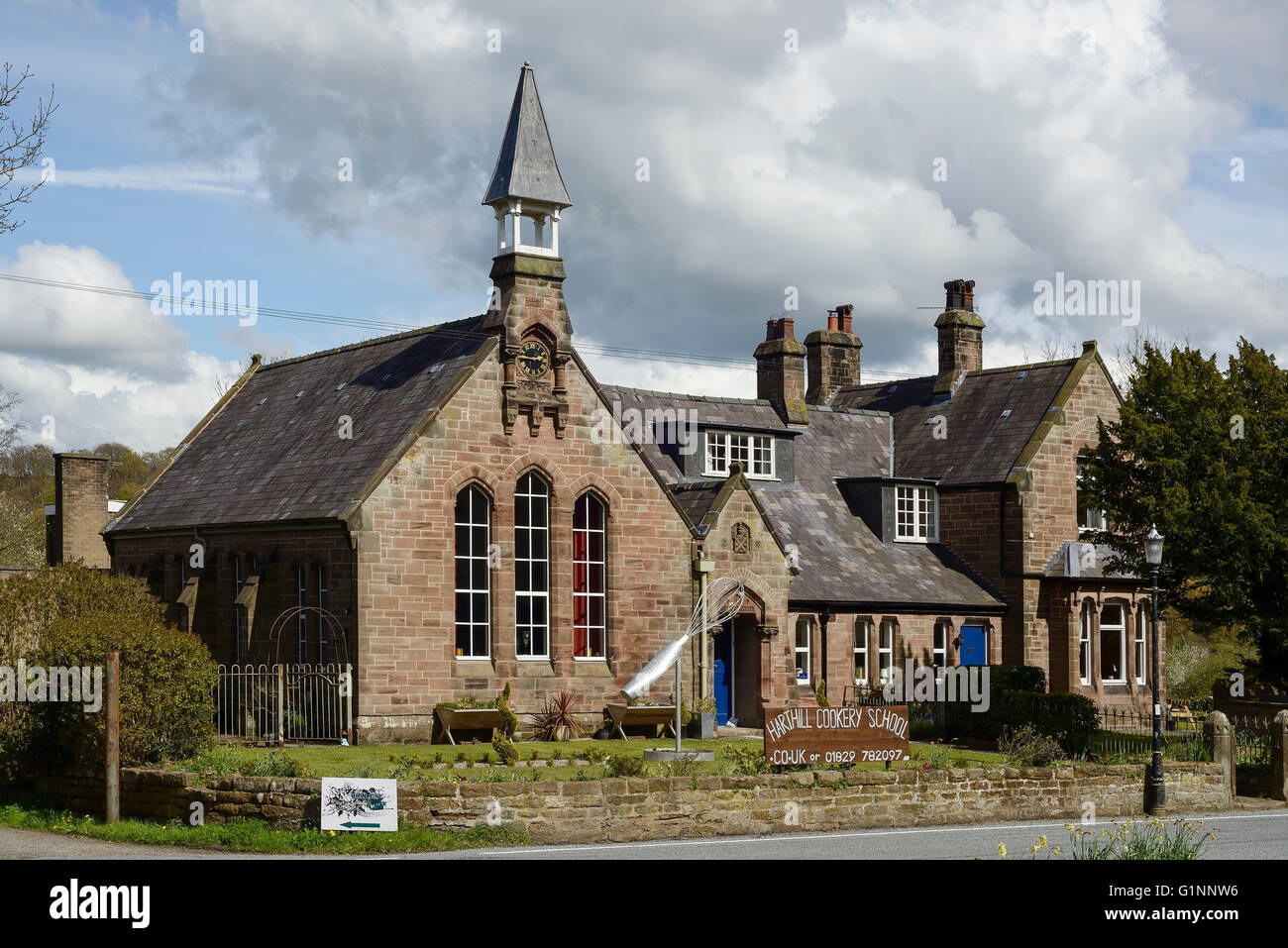 The Harthill Cookery School in the centre of Harthill village, Cheshire UK - Stock Image