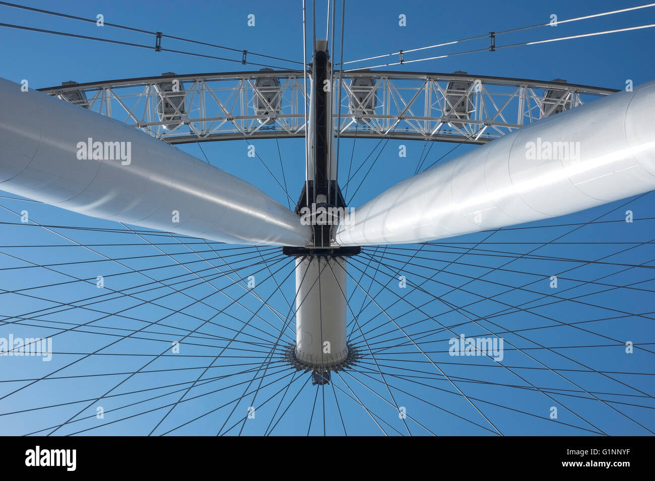 Close up detail of the London Eye, London UK - Stock Image