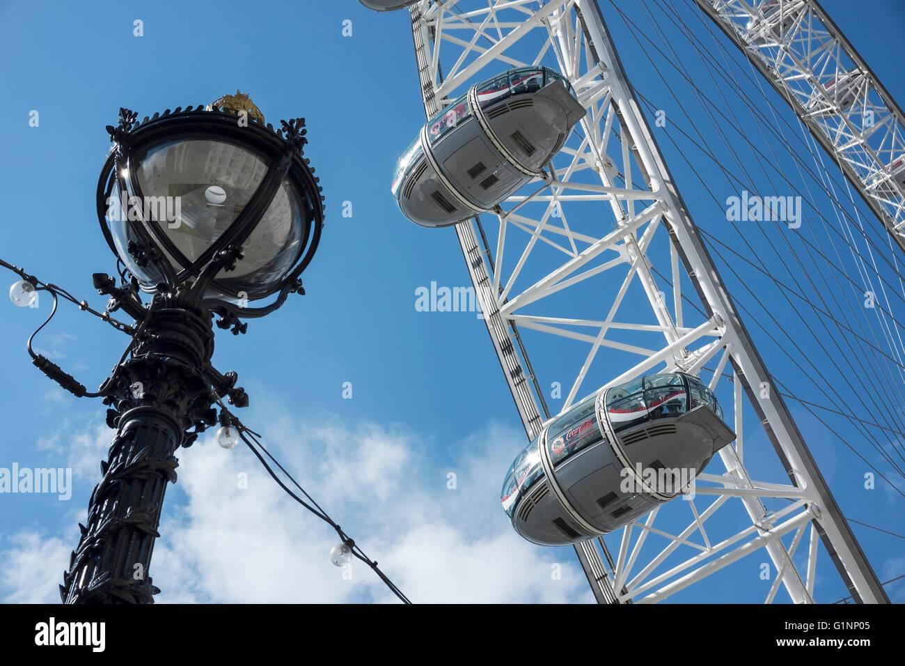 Close up detail of the London Eye, London UK - Stock Image