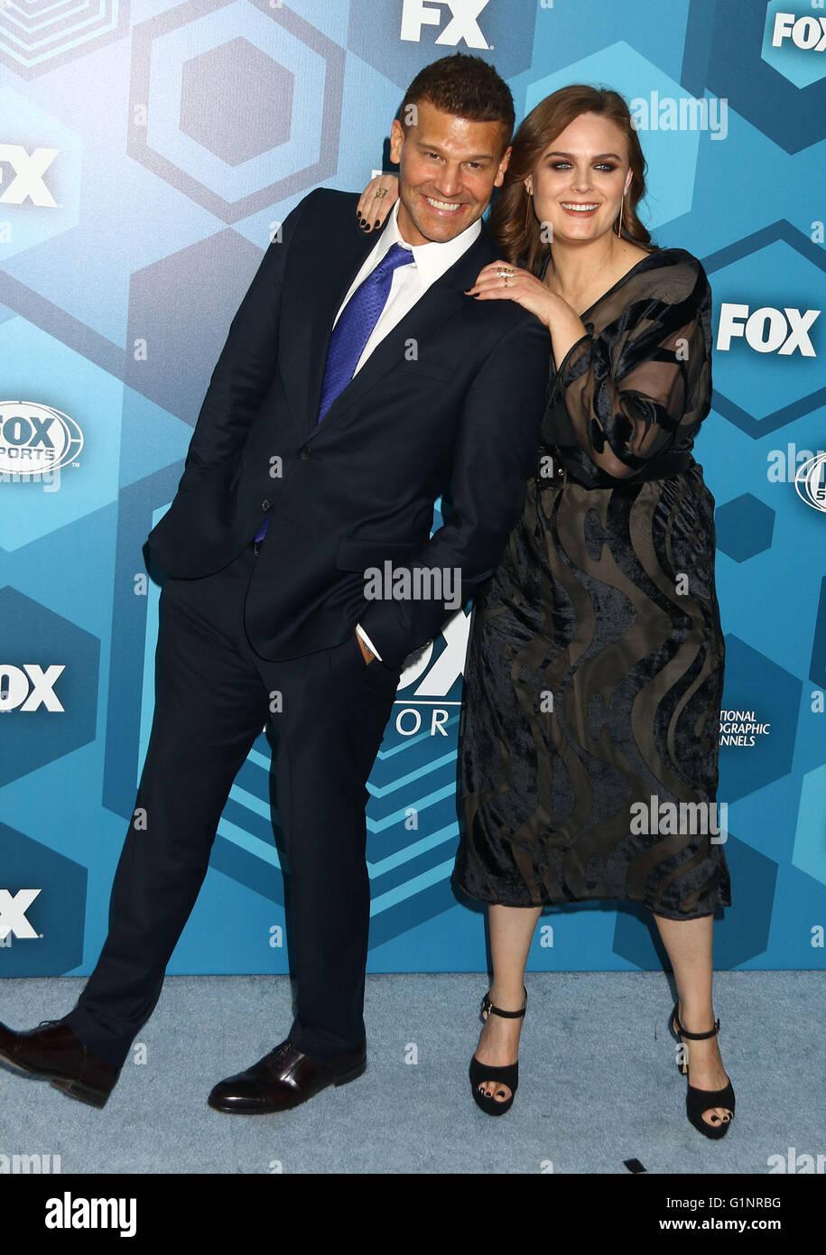 New York, USA. 16th May, 2016. Actors DAVID BOREANAZ and EMILY Stock ...