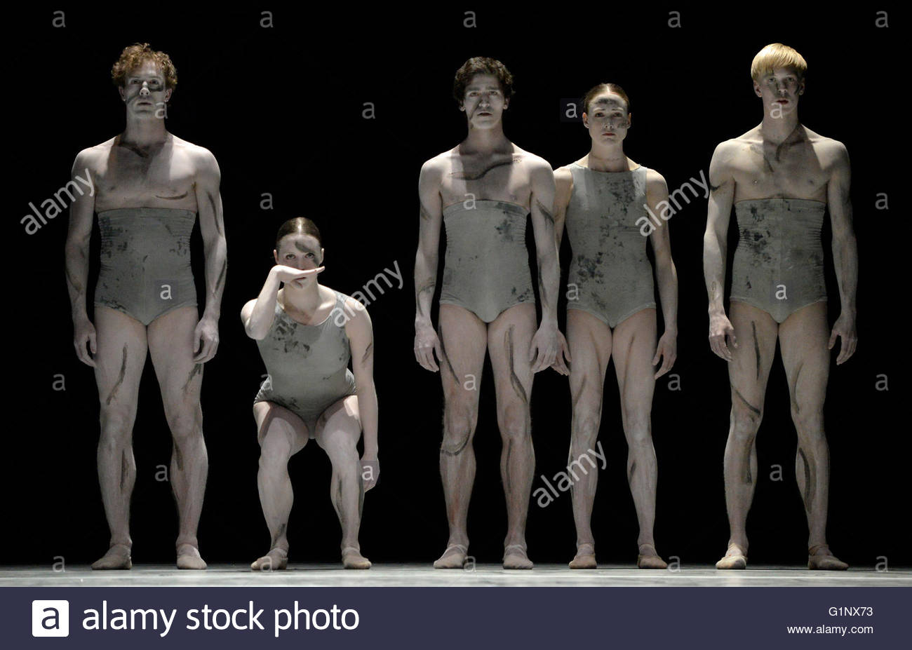 London, UK. 17th May, 2016. Dance Consortium  performing NEDERLANDS DANS THEATER 2 at Sadlers Wells London UK Sad - Stock Image