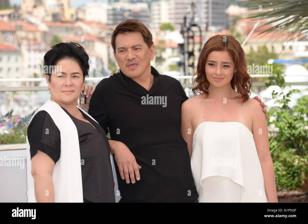 brillante mendoza and andi eigenmann stock photos brillante