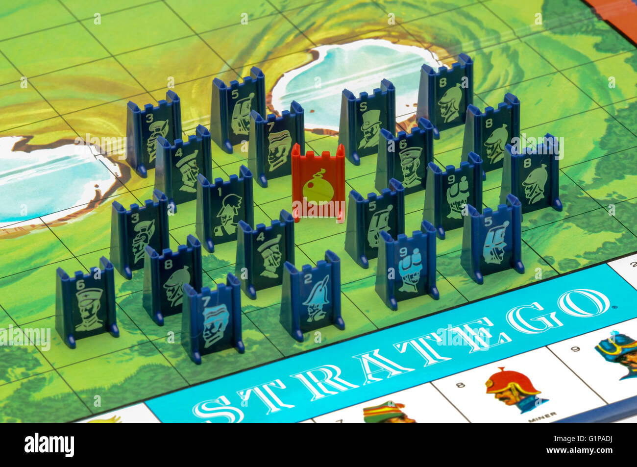 stratego board game with pieces stock photo 104368030 alamy