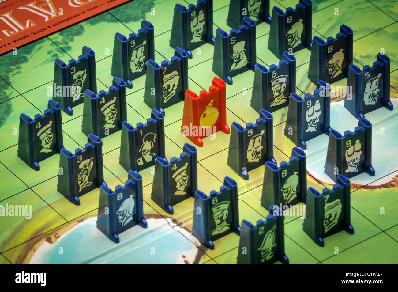 stratego board game with pieces stock photo 104368047 alamy