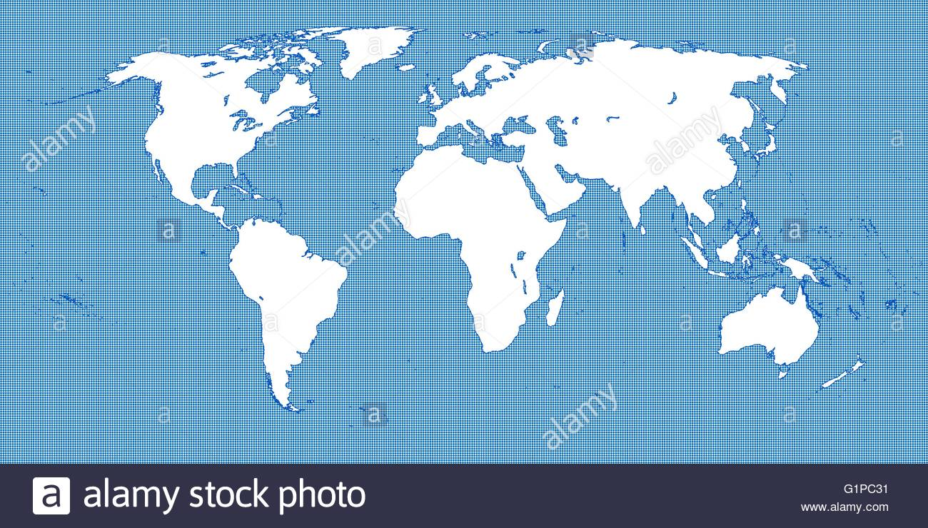 World Map Dotted Blue 3 Small Dots Stock Vector Art & Illustration