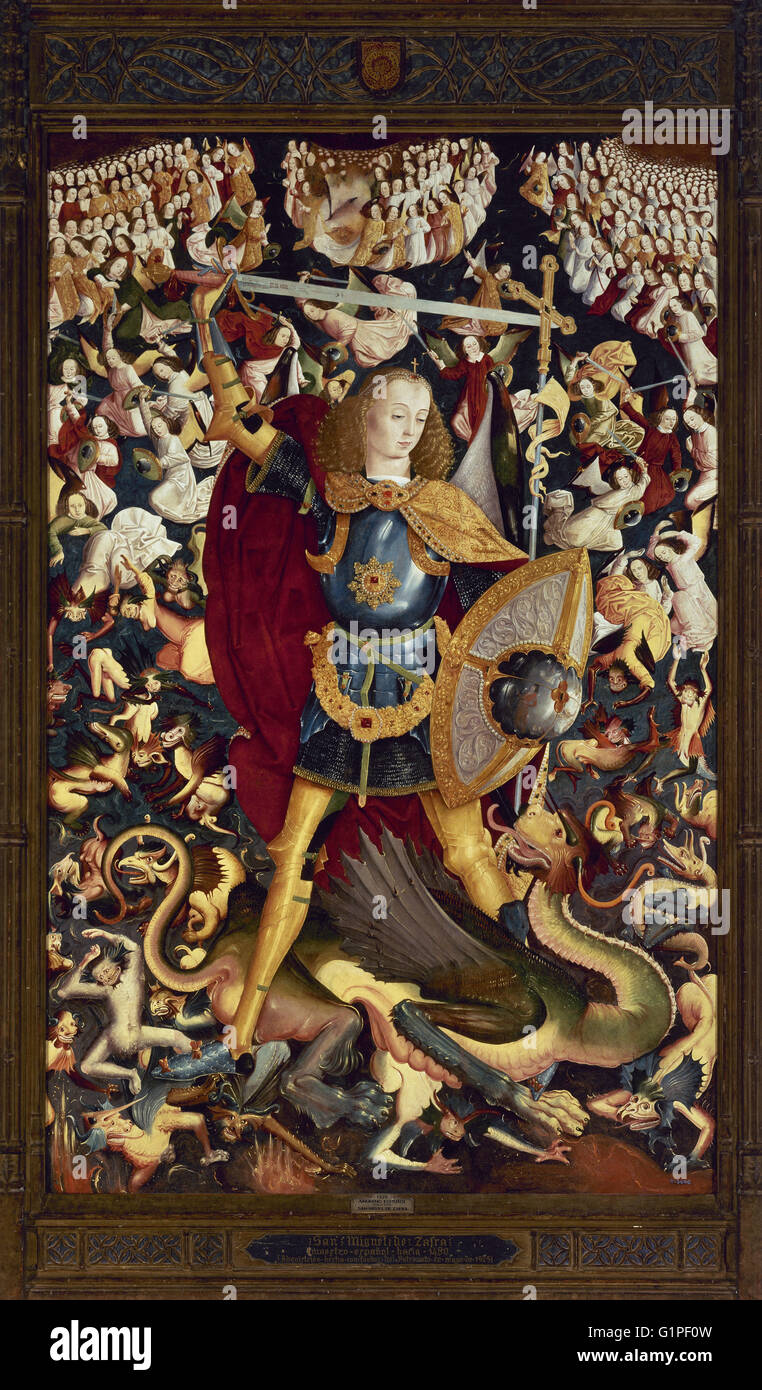 Saint Michael Archangel By Master Of Zafra 1495 1500 Depicting