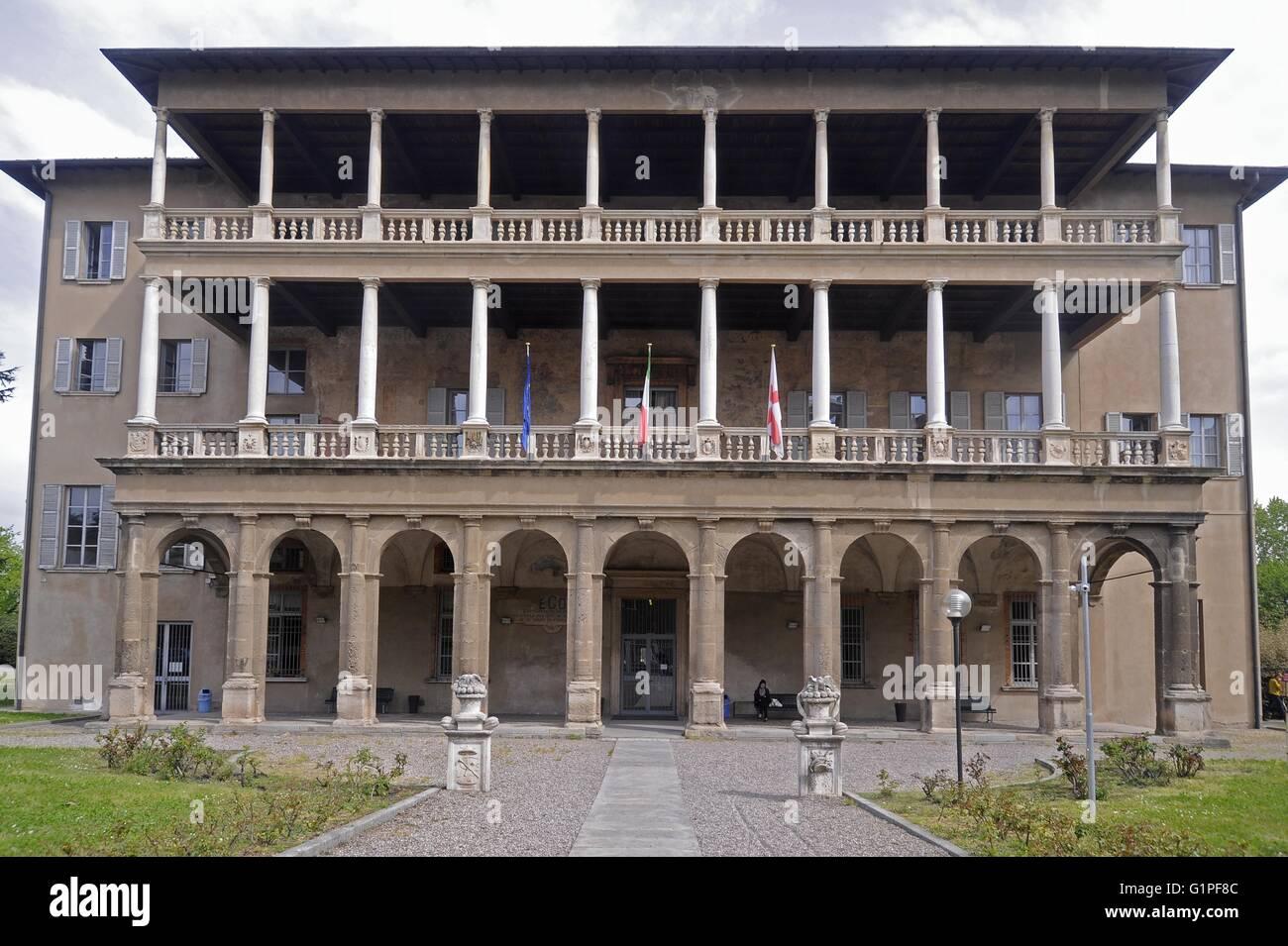 Civic Schools of Milan (Italy), Music School Claudio Abbado. Villa Simonetta, patrician Renaissance building built - Stock Image