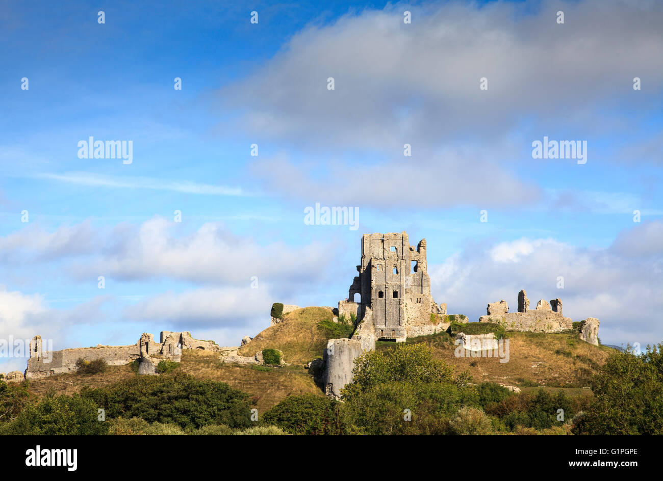 Corfe Castle, Isle of Purbeck, Dorset, England - Stock Image