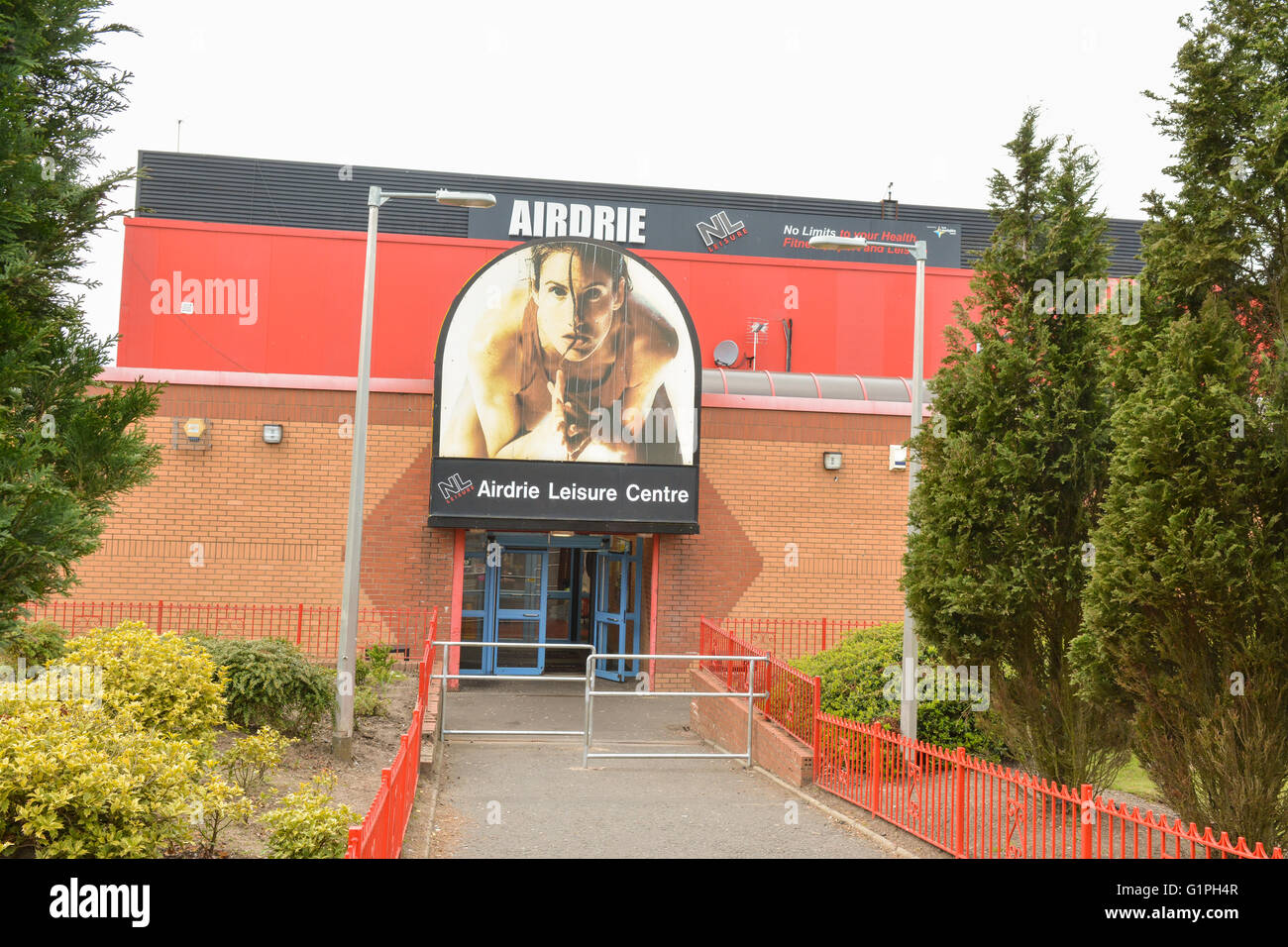 Airdrie Leisure Centre, operated by NL Leisure (North Lanarkshire), Scotland, UK - Stock Image