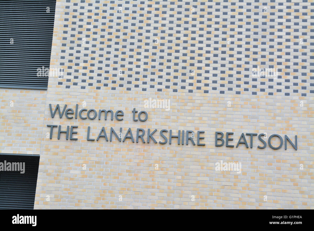 The Lanarkshire Beatson Satellite Radiotherapy Centre, Monklands General Hospital, Airdrie, Scotland, UK - Stock Image