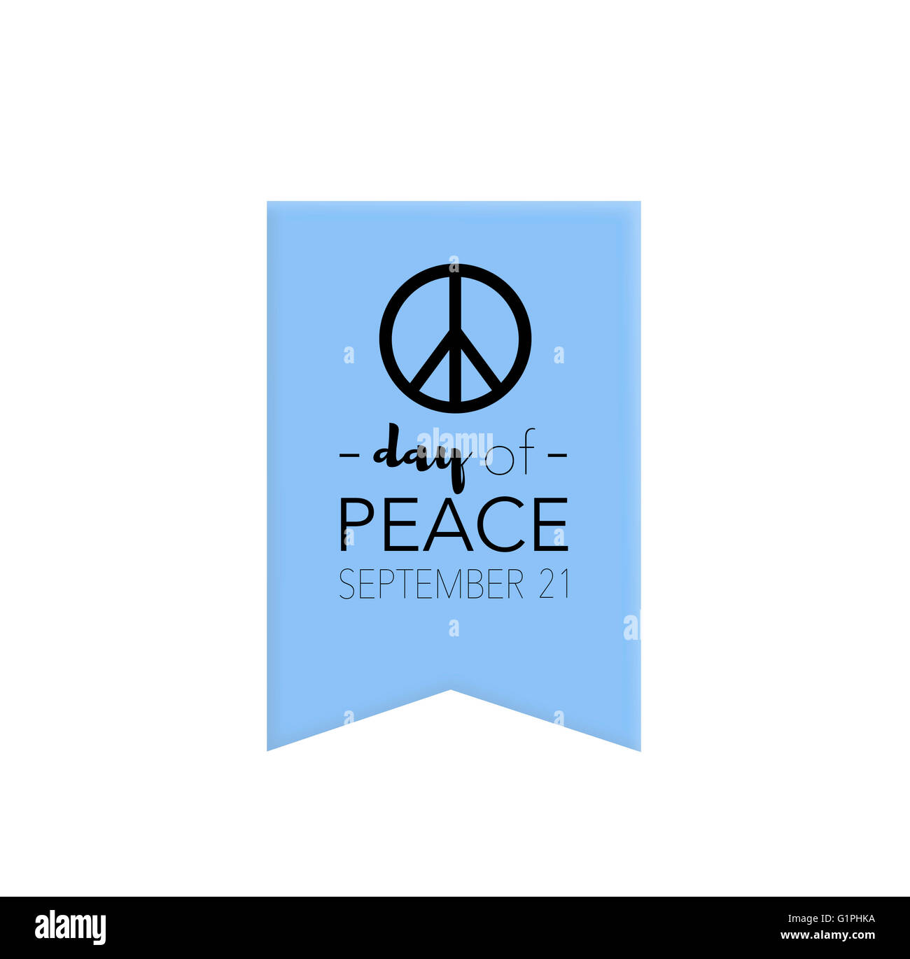 Day of peace, september 21st - Stock Image