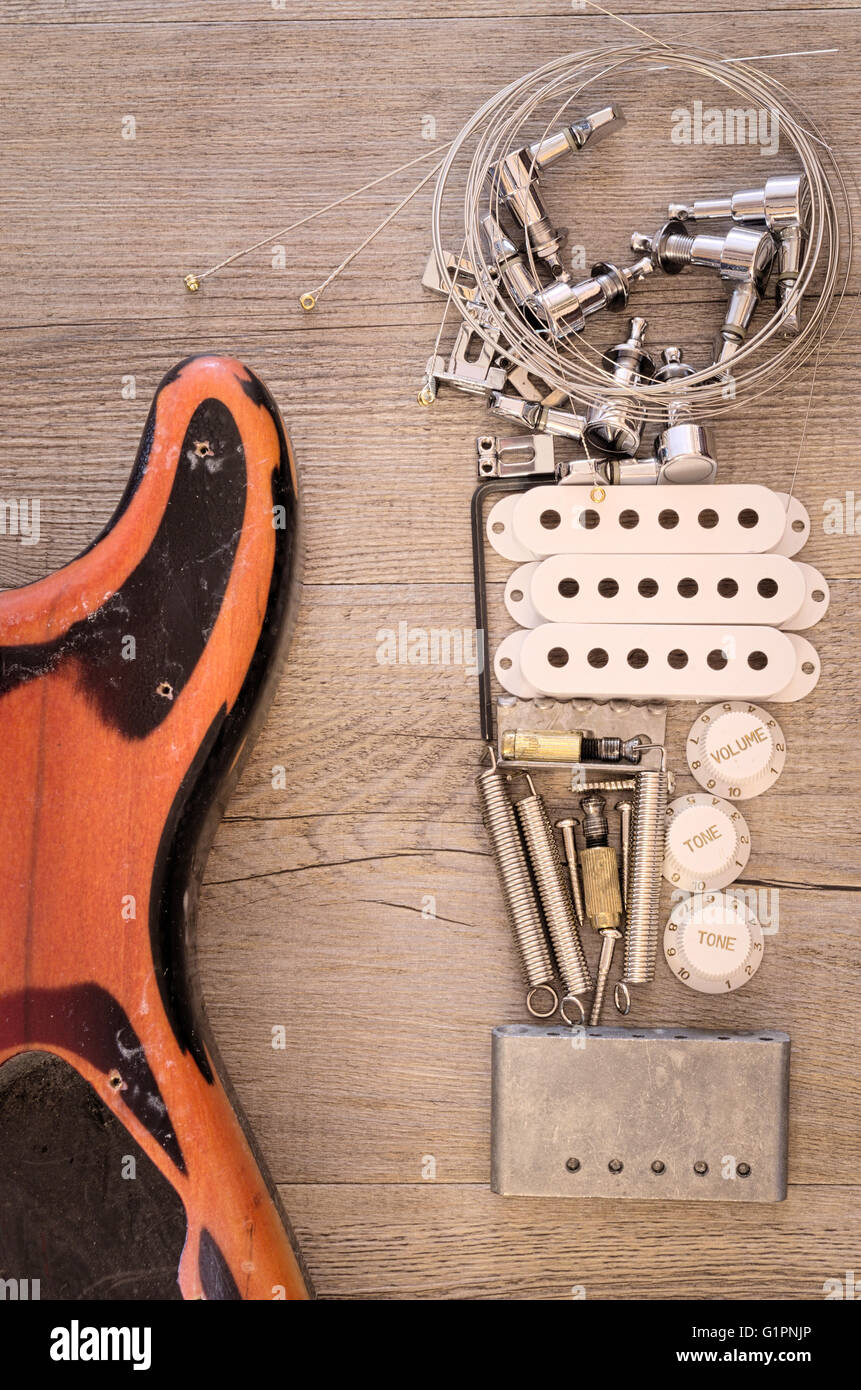guitar parts stock photos guitar parts stock images alamy. Black Bedroom Furniture Sets. Home Design Ideas