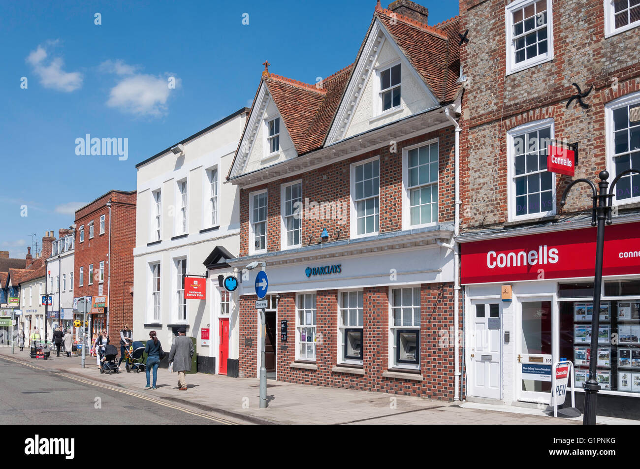 Upper High Street, Thame, Oxfordshire, England, United Kingdom - Stock Image