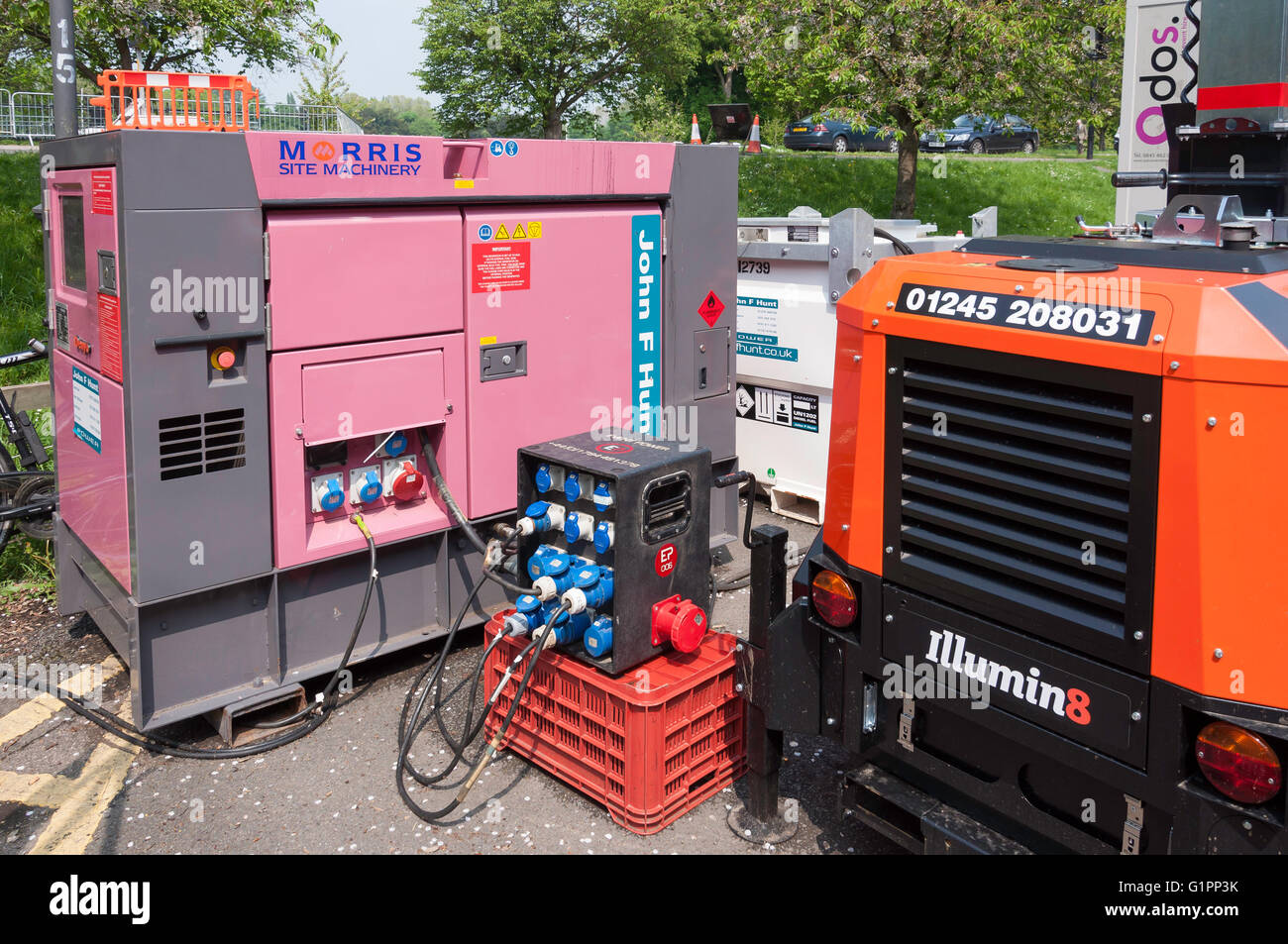 Morris site generator at Royal Windsor Horse Show, Home Park, Windsor, Berkshire, England, United Kingdom - Stock Image