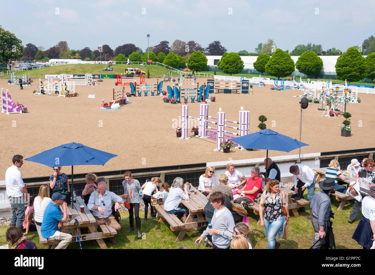 Frogmore Show Jumping Arena at Royal Windsor Horse Show, Home Park, Windsor, Berkshire, England, United Kingdom - Stock Image