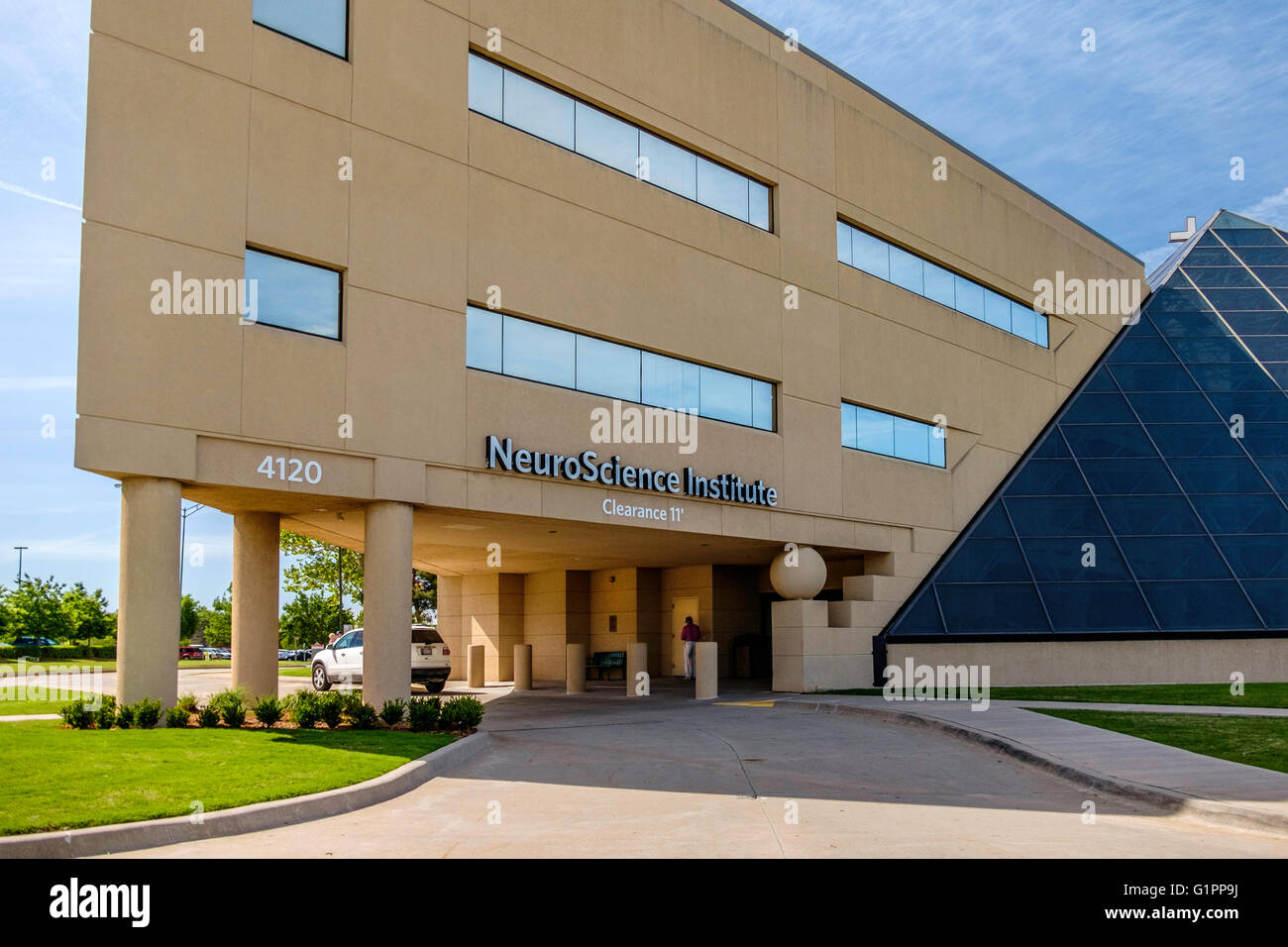 The exterior of a Neurology Institute specializing in neurological problems. Oklahoma City, Oklahoma, USA. - Stock Image
