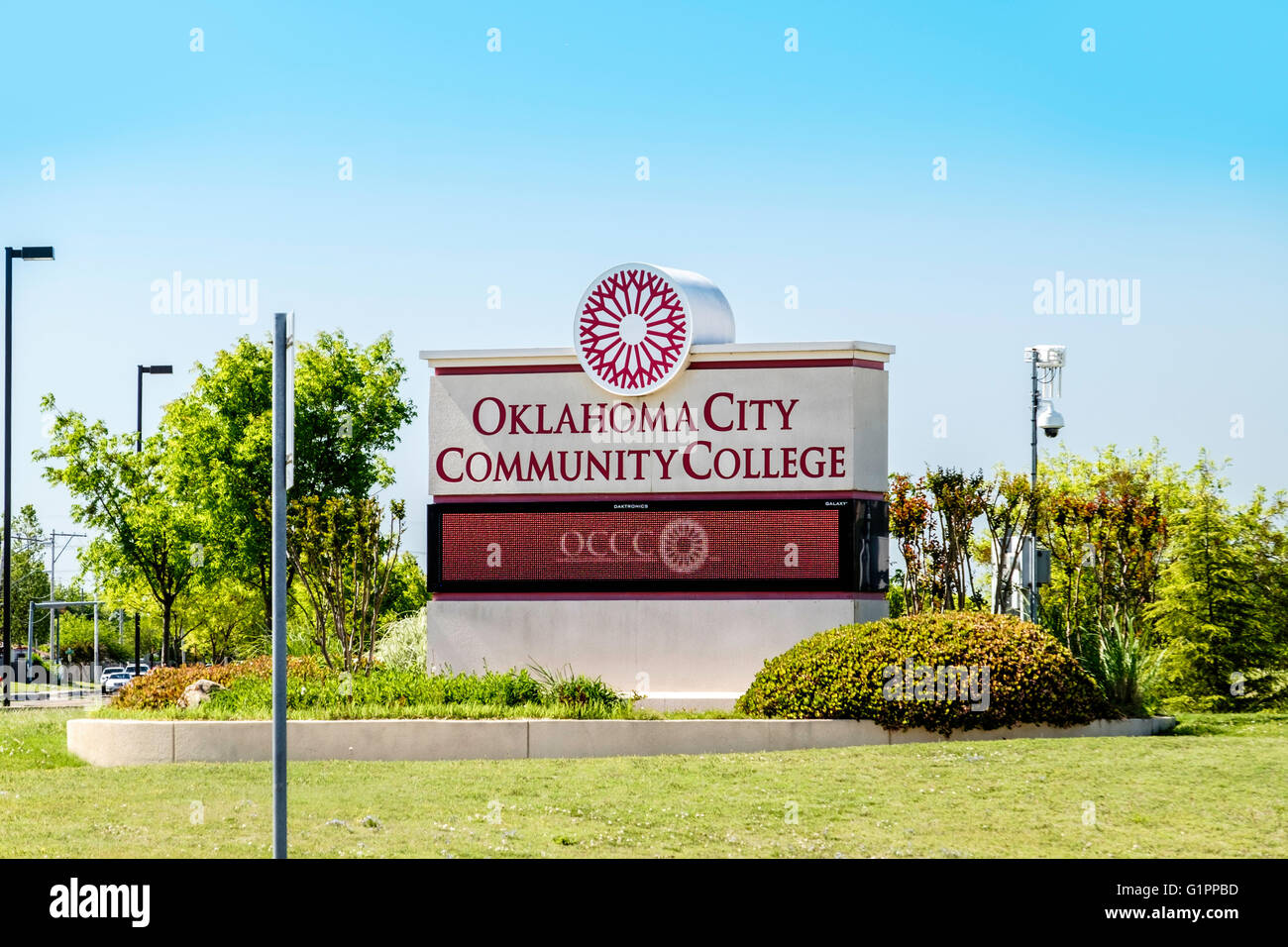 An entrance sign to Oklahoma City Community College in Oklahoma City Stock  Photo - Alamy
