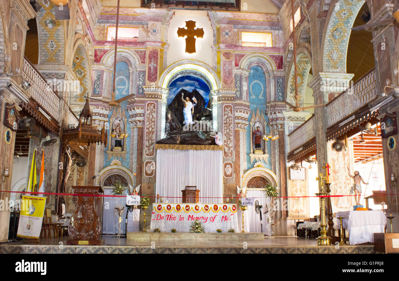 Santa Cruz Cathedral at Fortkochi Stock Photo