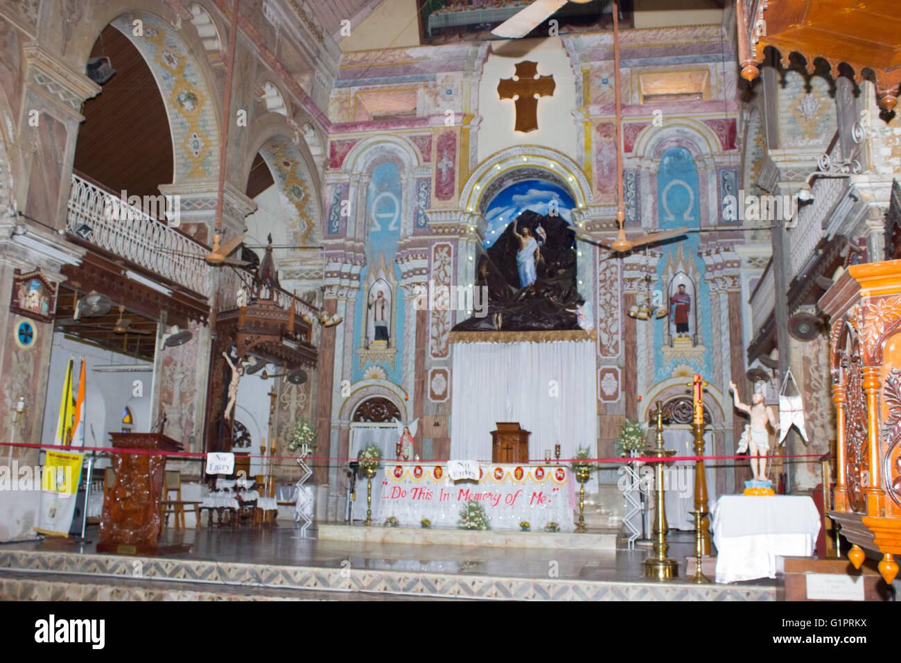 Santa Cruz Cathedral at Fortkochi Stock Photo