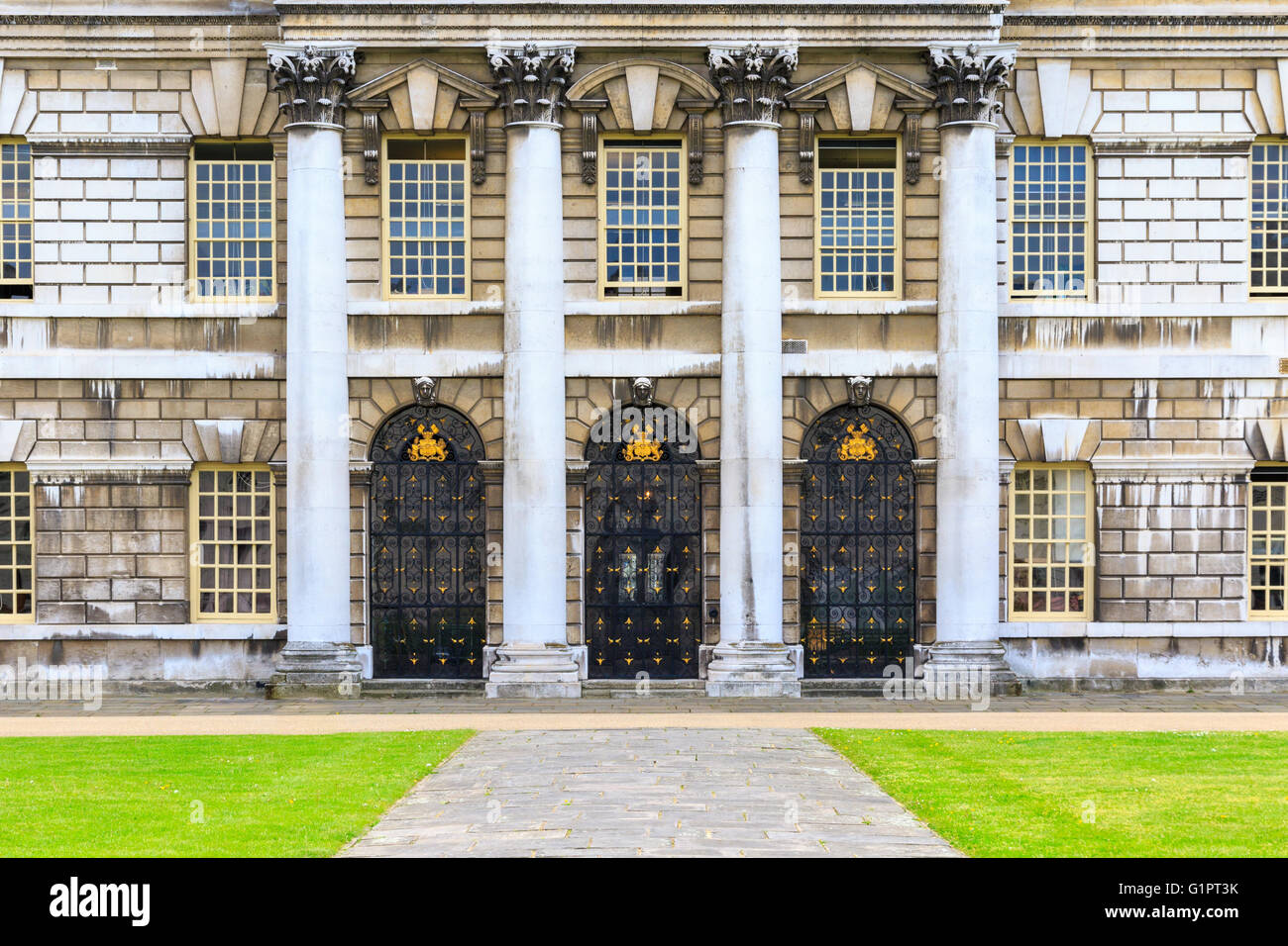 Entrance of Trinity Laban Conservatoire Of Music and Dance in University of Greenwich, London - Stock Image