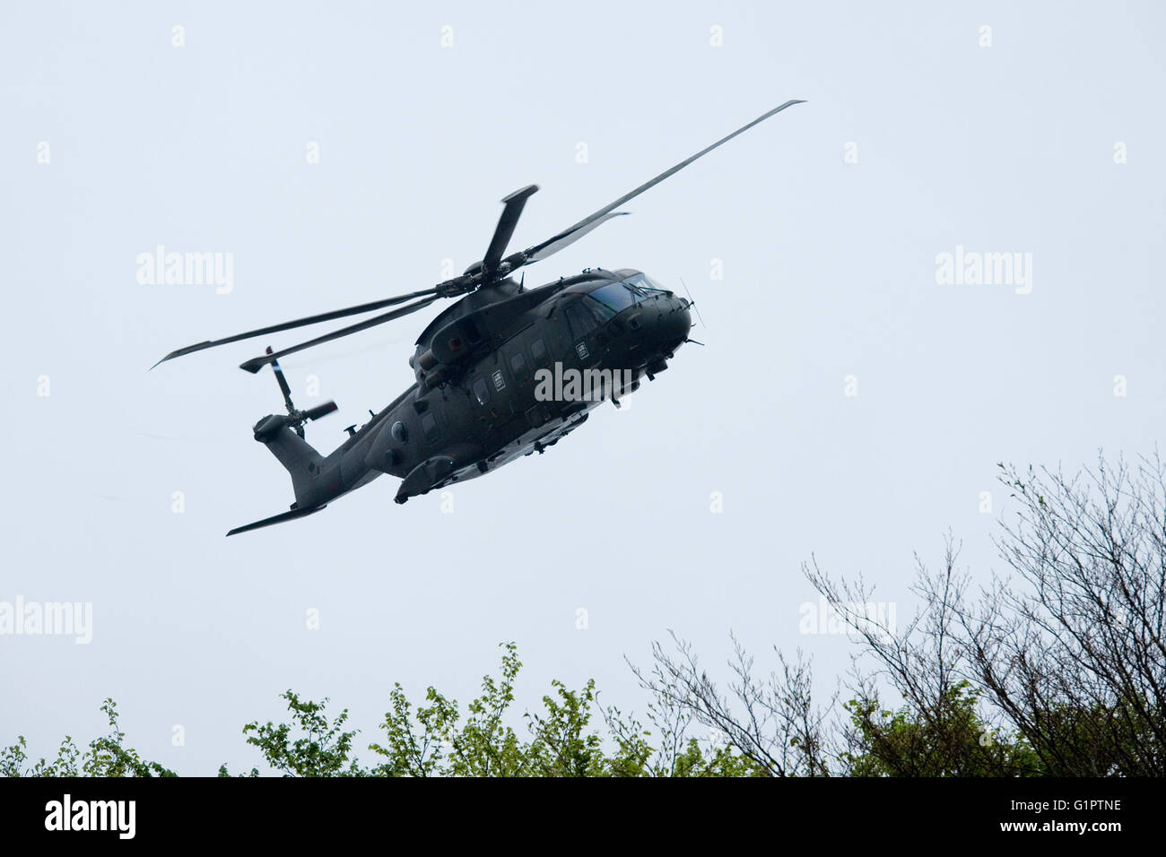 merlin helicopter  AgustaWestland AW101 - Stock Image