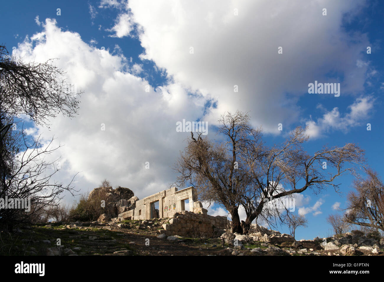 Neglected archeological ruins. Photographed in Israel Stock Photo