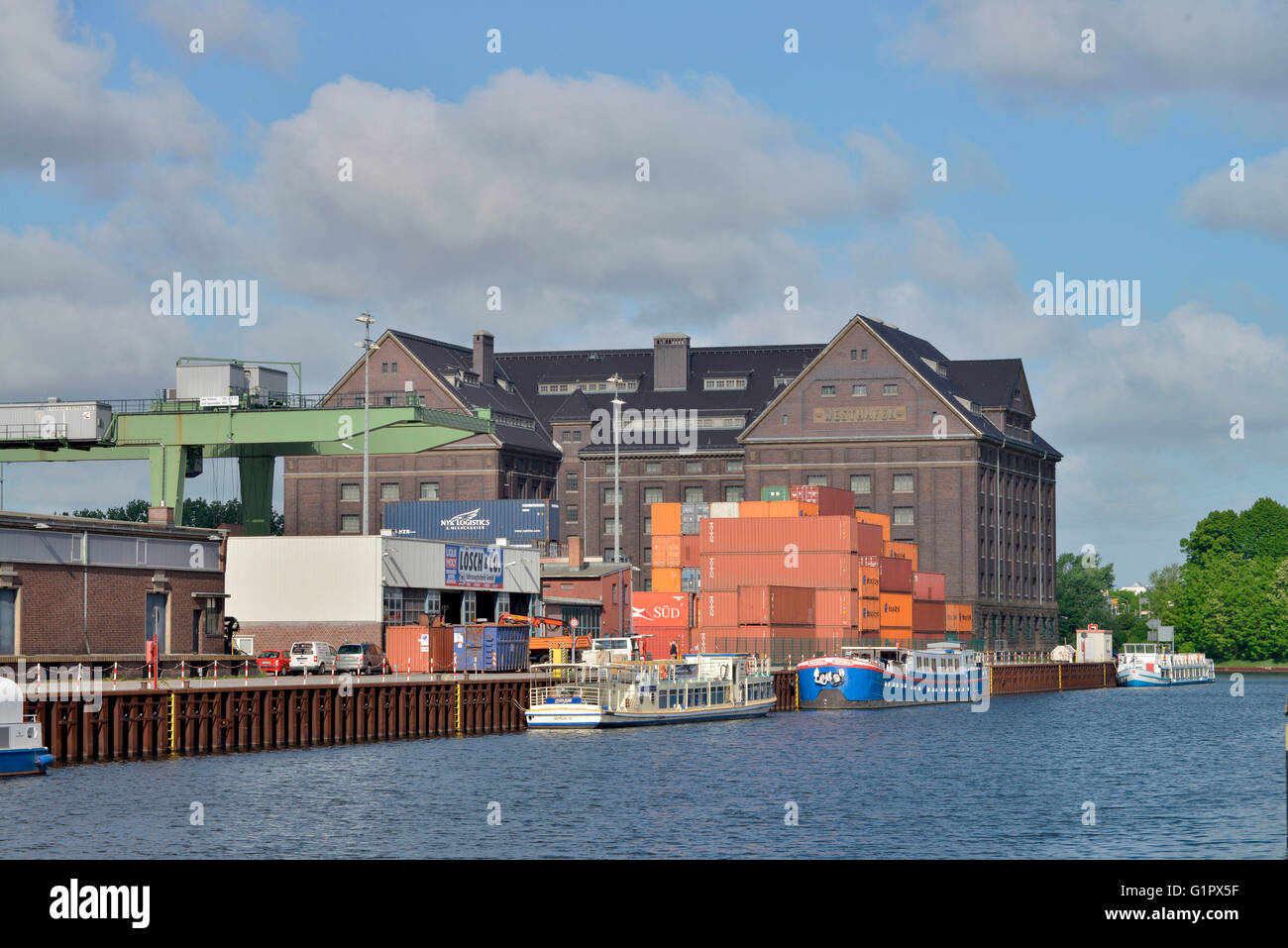 Lagerhaus, Behala, Westhafen, Berlin, Deutschland Stock Photo