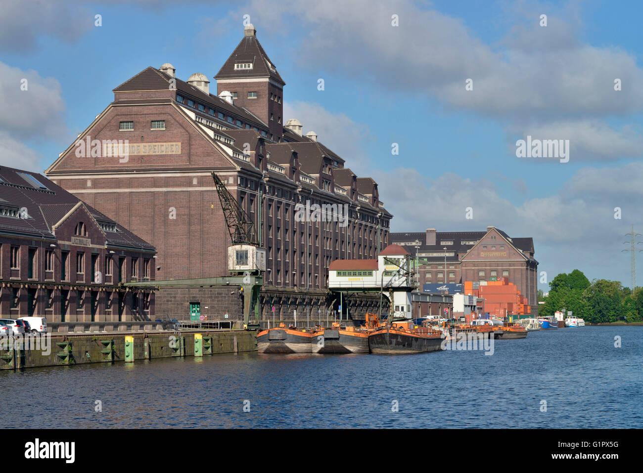 Lagerhaus, Behala, Westhafen, Berlin, Deutschland Stock Photo