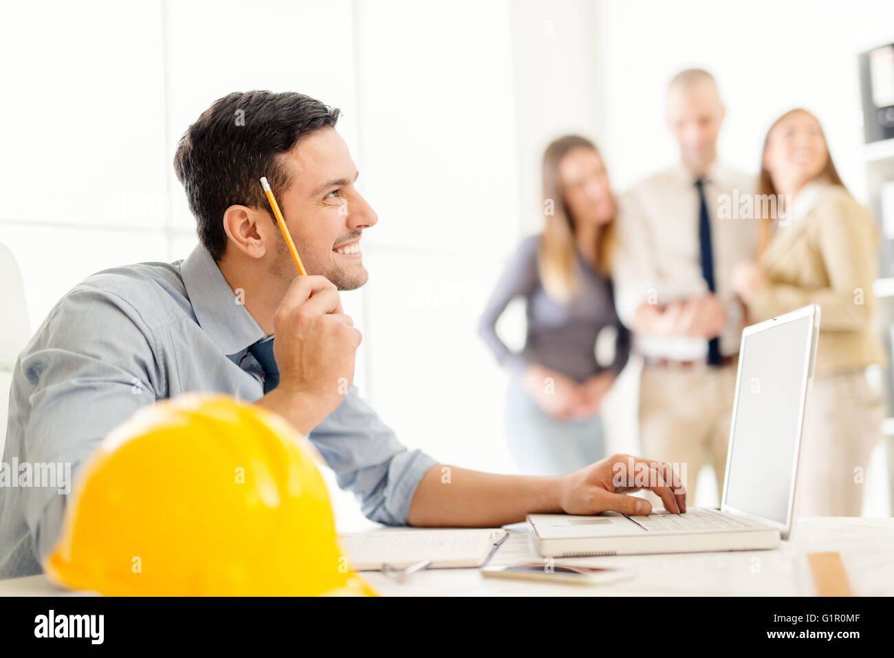Young Construction Engineer - Stock Image
