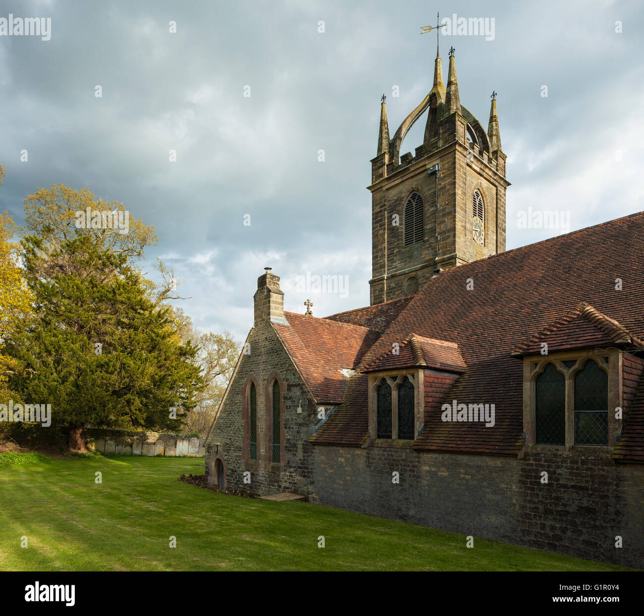 All Hallows church in Tillington near Petworth, West Sussex, England. Stock Photo