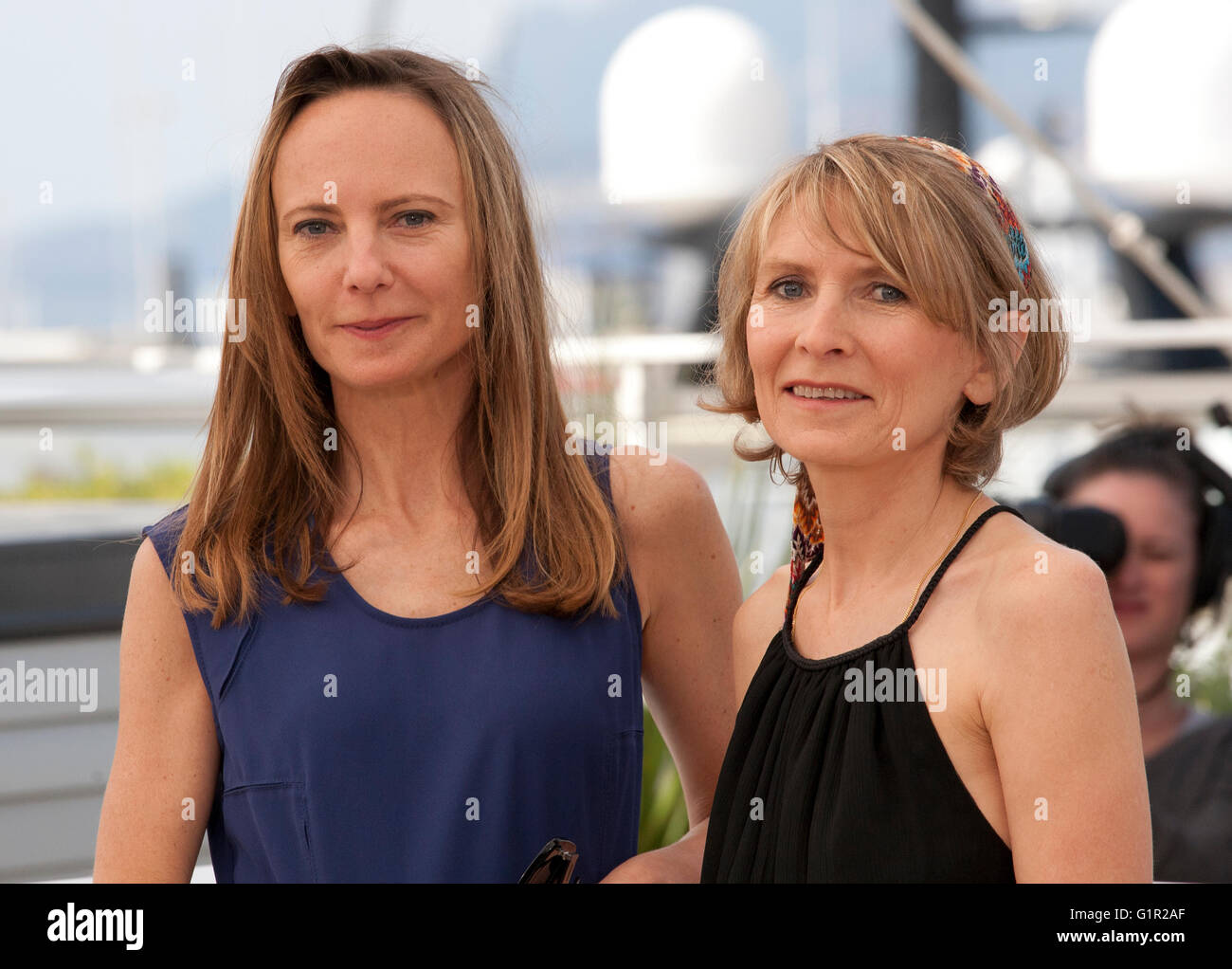 Directors Delphine Coulin and Muriel Coulin at the The Stopover (Voir Du Pays) film photo call at the 69th Cannes - Stock Image